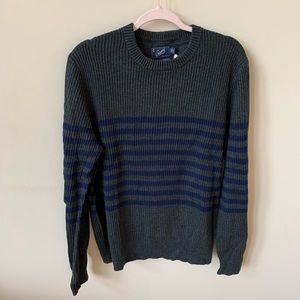 NWT! Grayers men's Gray placed stripe sweater 4285